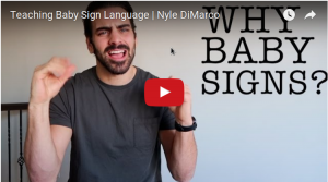Nyle DiMarco teaches ASL for Infants