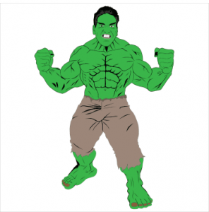 Picture of the Hulk with Lou Ferringo's Face
