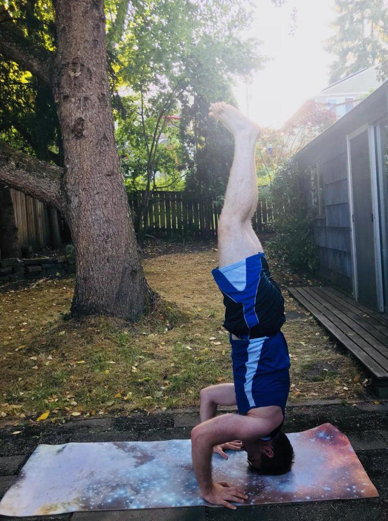 Chris' headstand